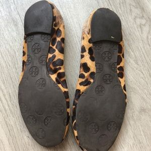 Tory Burch Shoes - Tory Burch leopard print horse Reva hair flats